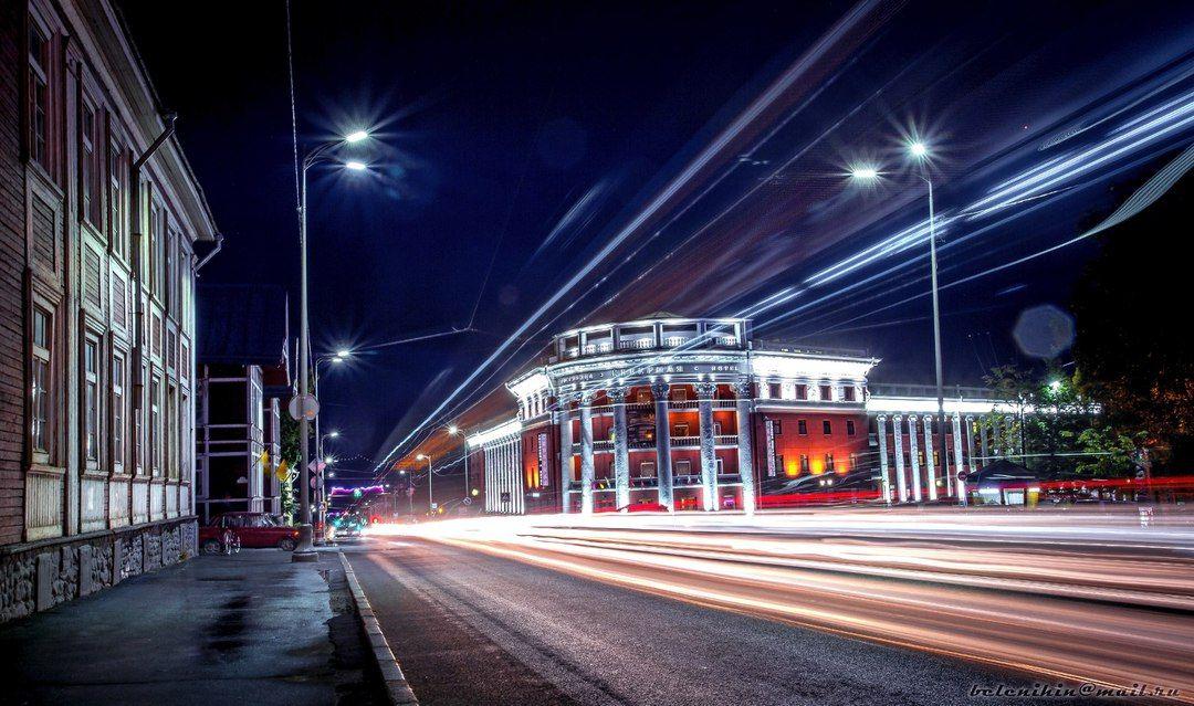 Вечерние огни Петрозаводска
